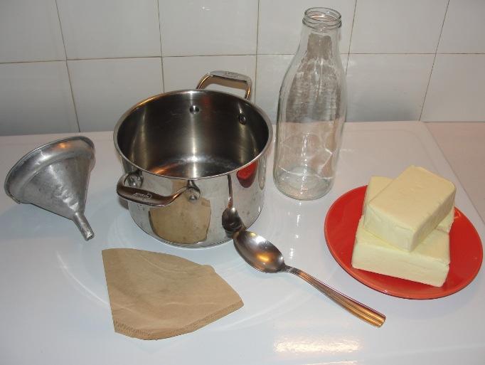 Ghee (beurre clarifié) - matériel