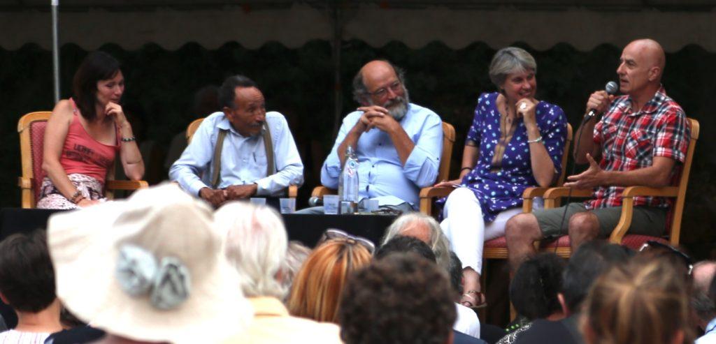Avec Pierre Rabhi, à Correns