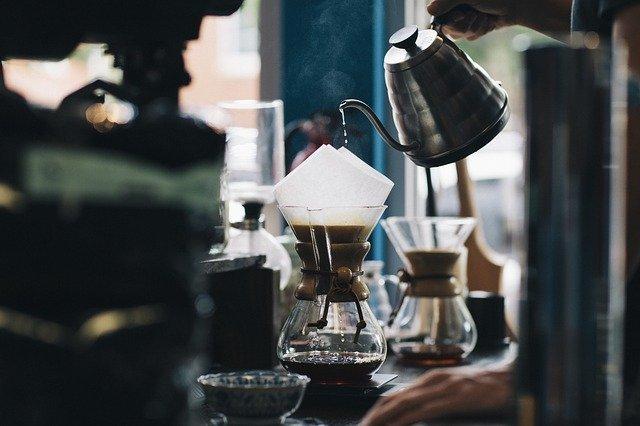 Percolation du café